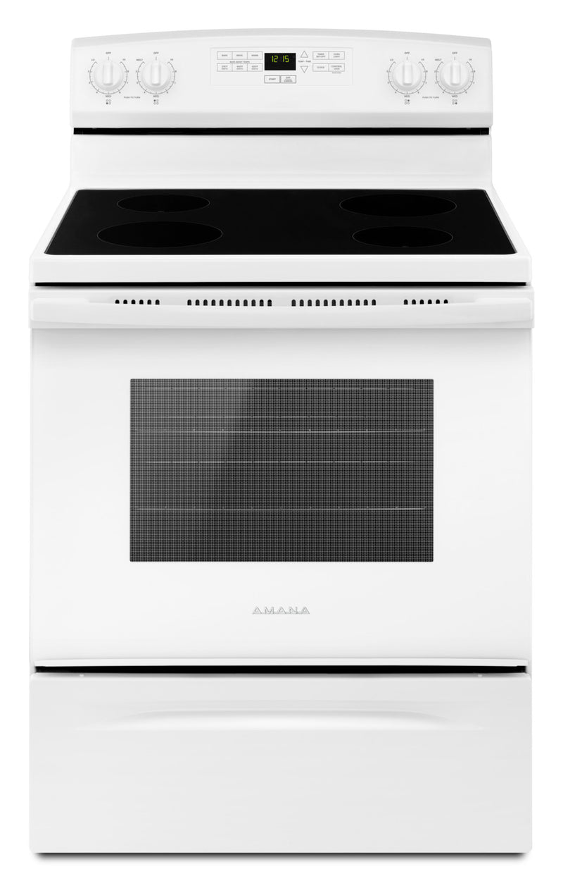 Amana White Freestanding Electric Range (4.8 Cu. Ft.) - YAER6303MFW