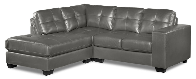 Meldrid 3-Piece Sectional with Left-Facing Chaise - Dark Grey