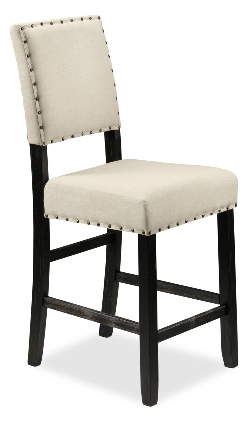 Jackson Pub-Height Stool - Cream