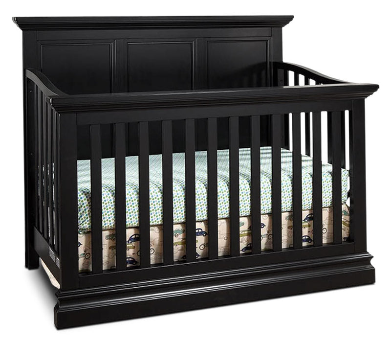 Cameron Convertible Panel Crib - Black