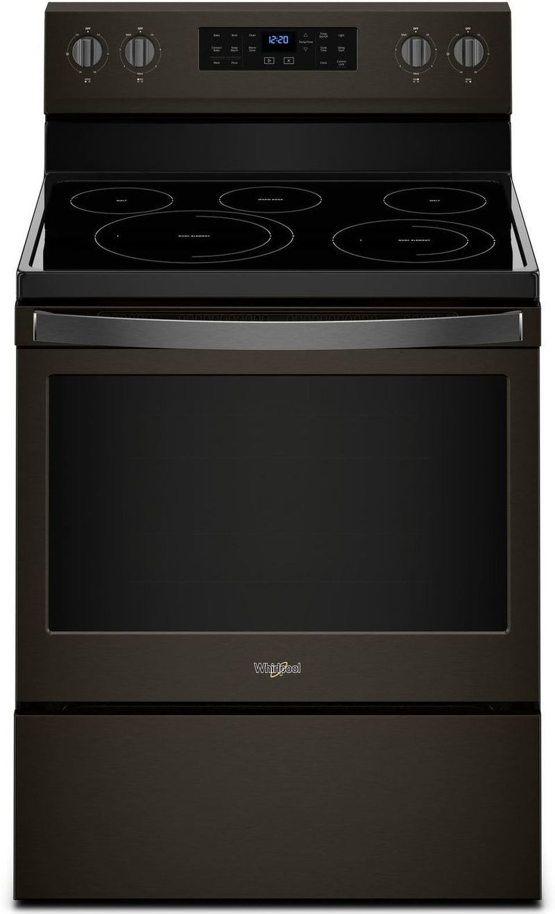 Whirlpool Black Stainless Steel Freestanding Electric Convection Range (5.3 Cu. Ft.) - YWFE550S0HV