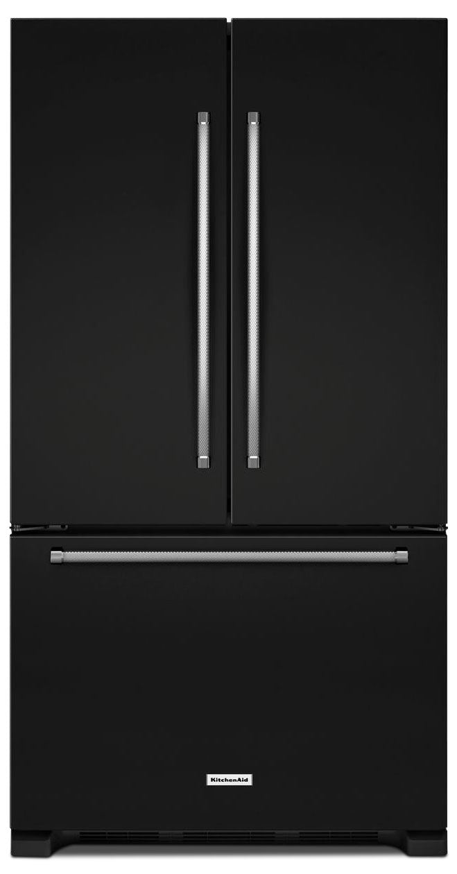 KitchenAid Black French Door Refrigerator (20 Cu. Ft.) - KRFC300EBL