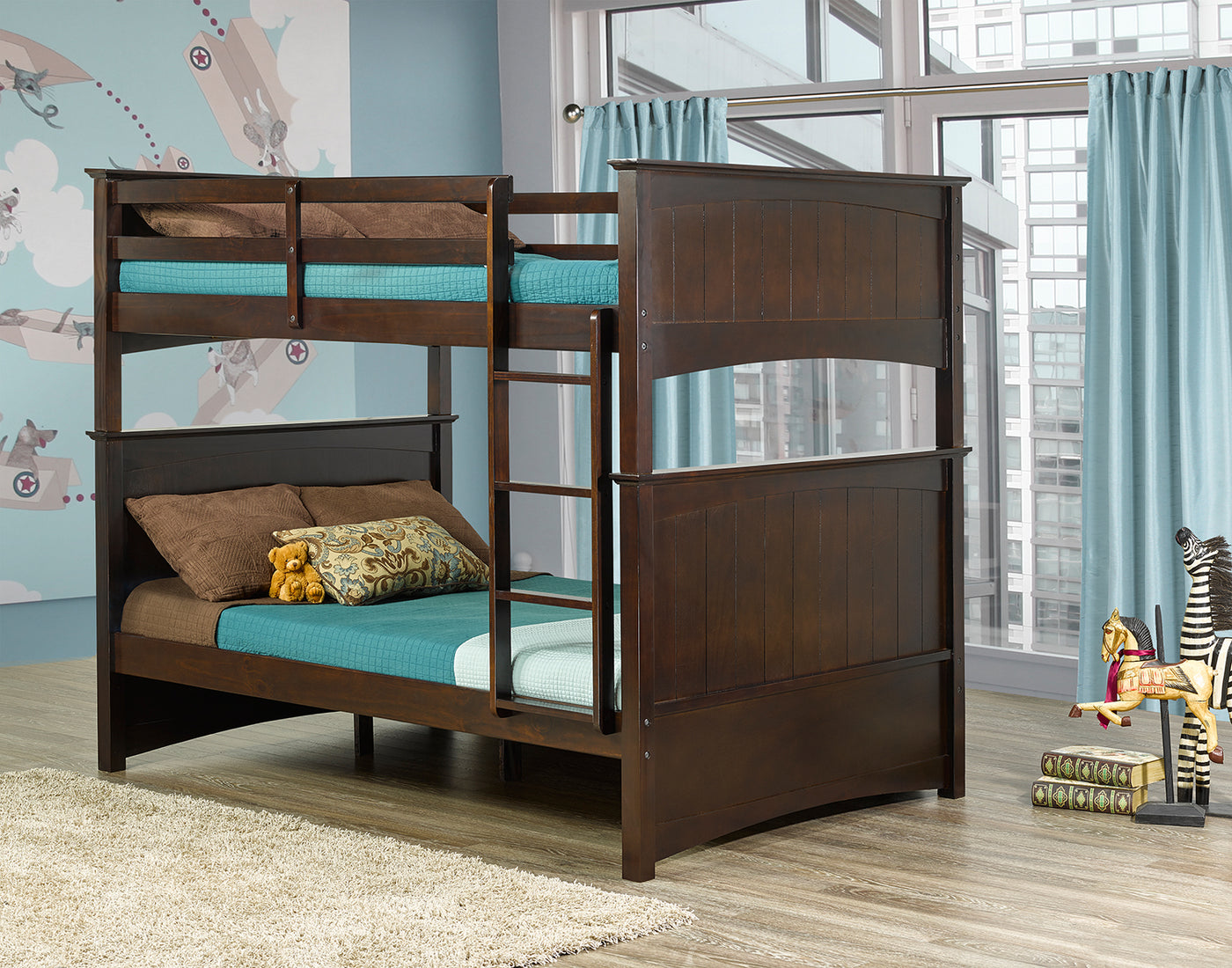 Tyler Full Over Full Bunk Bed Espresso Leon S