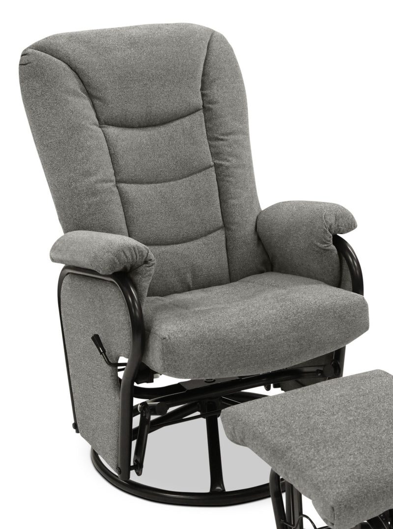 Hannah Swivel Glider Recliner - Grey