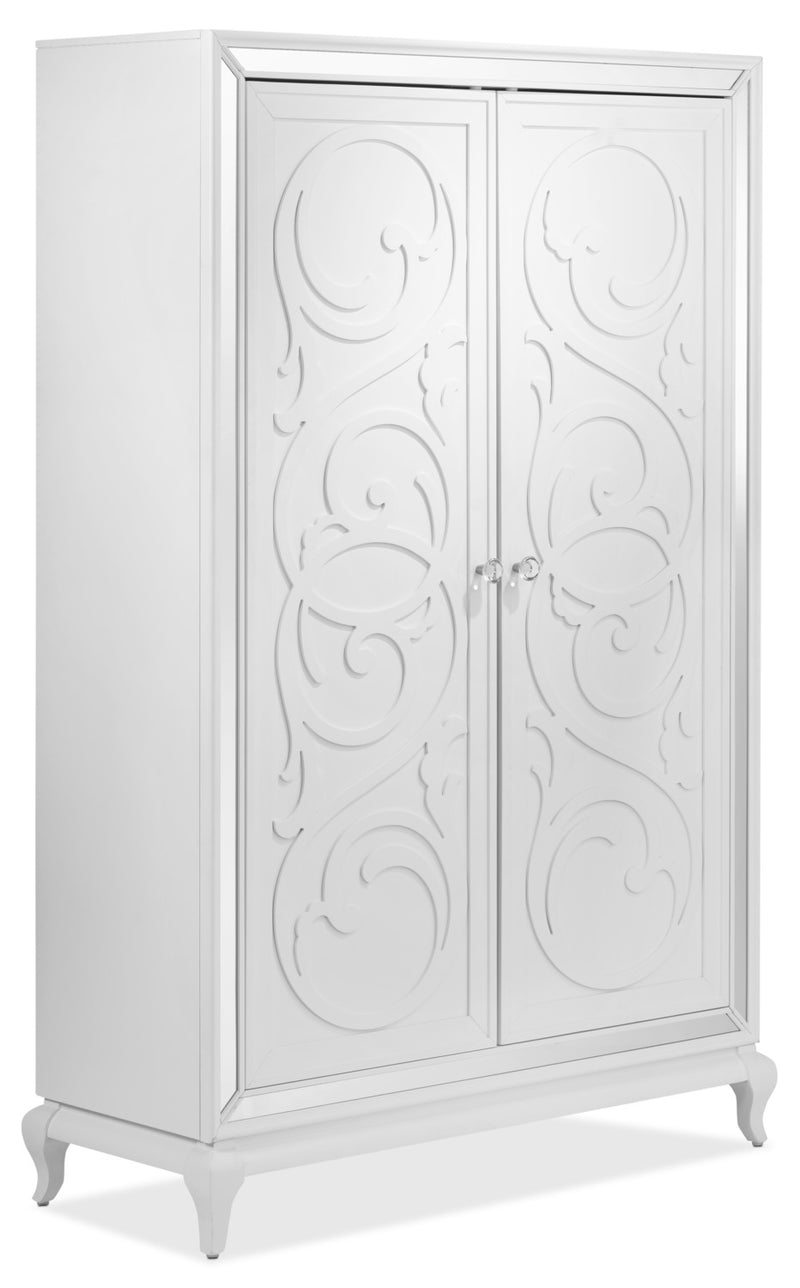 Arctic Ice Armoire - White