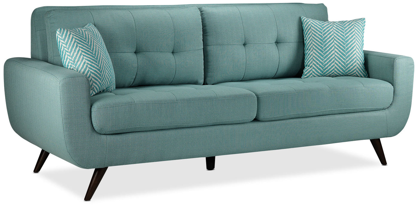 Sensational Julian Sofa Teal Gmtry Best Dining Table And Chair Ideas Images Gmtryco
