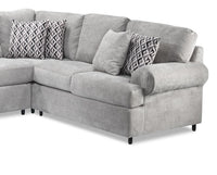 Jupiter 4-Piece Sectional with Left-Facing Chaise - Ash