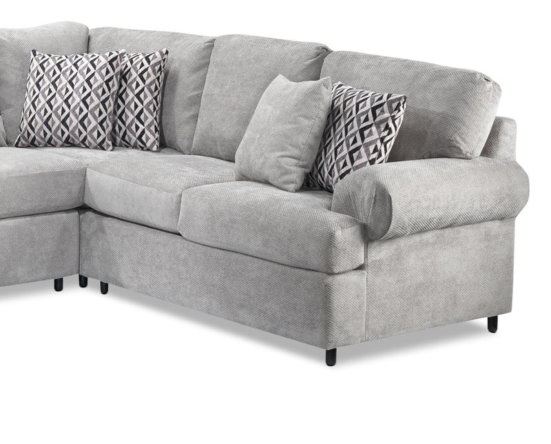 Leons Jupiter 4-Piece Sectional with Left-Facing Chaise - Ash