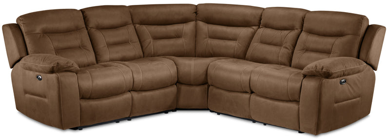 Charlotte 3-Piece Power Reclining Sectional - Hazelnut