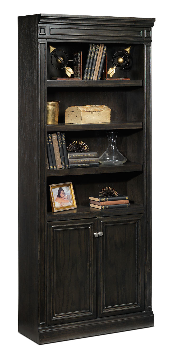Copley Door Bookcase - Deep Grey