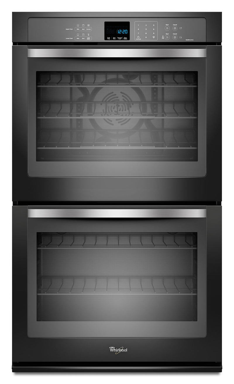 Whirlpool Black Convection Double Wall Oven (10 Cu. Ft.) - WOD93EC0AE