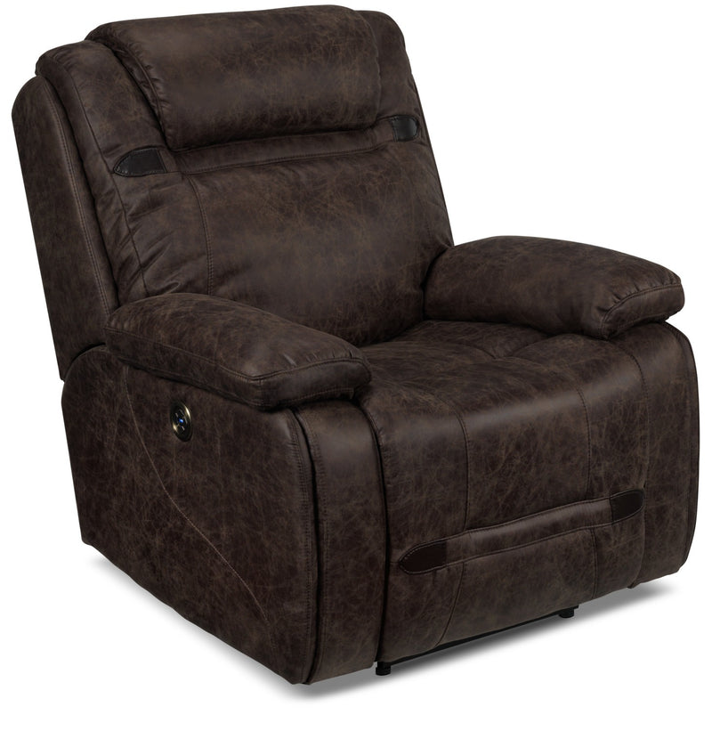 Rebel Power Recliner - Brown
