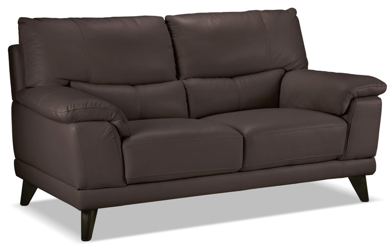 Braylon Loveseat - Dark Chocolate