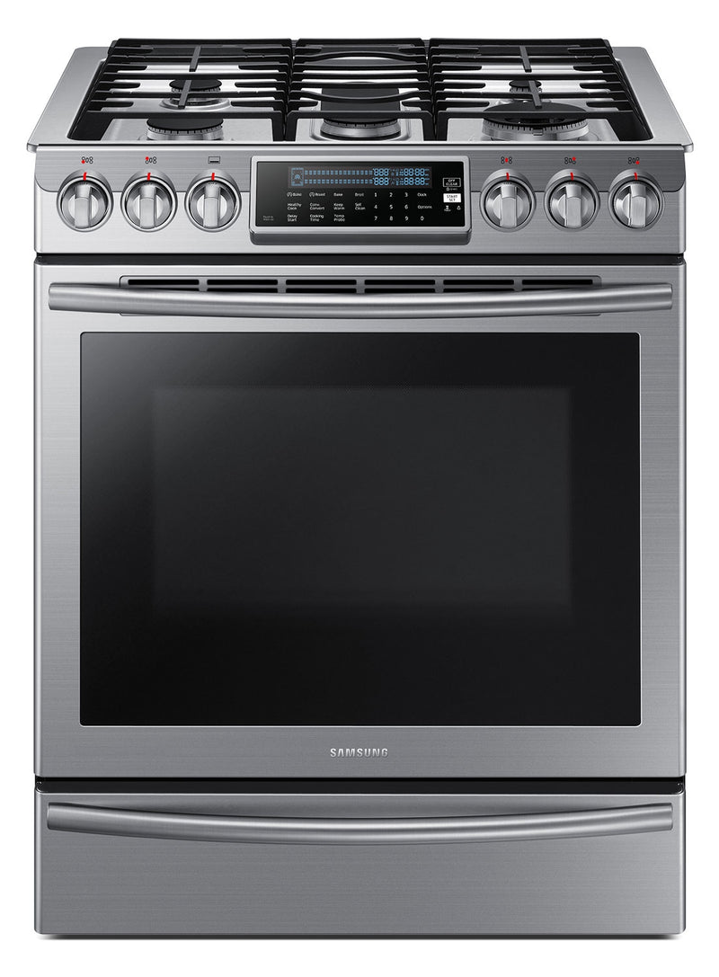 Samsung Stainless Steel Slide-In Gas Range (5.8 Cu. Ft.) - NX58H9500WS