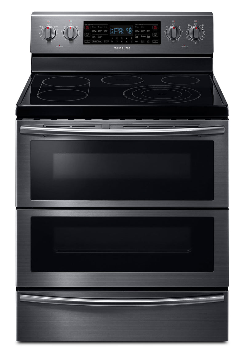 Samsung Black Stainless Steel Freestanding Electric Convection Range (5.9 Cu. Ft.) - NE59J7850WG/AC