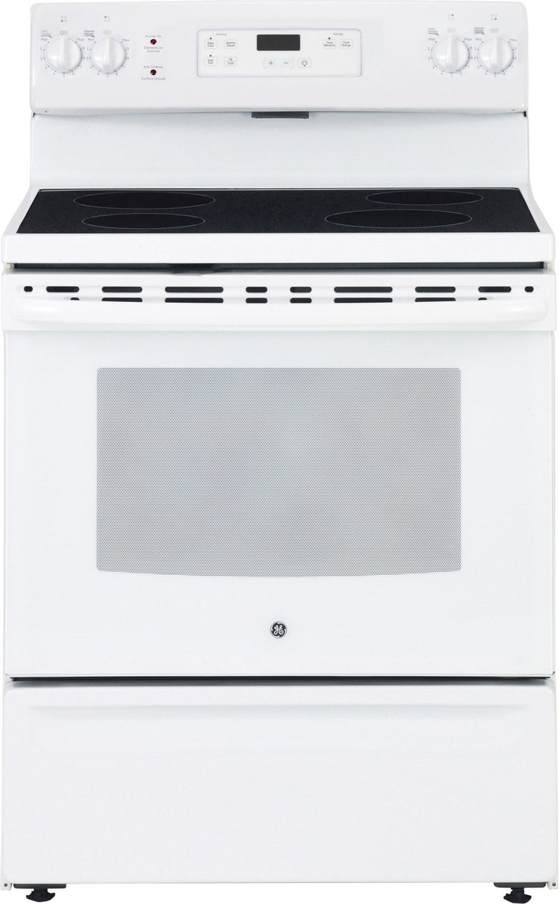 GE White Freestanding Electric Range (5.0 Cu. Ft.) - JCBS630DKWW
