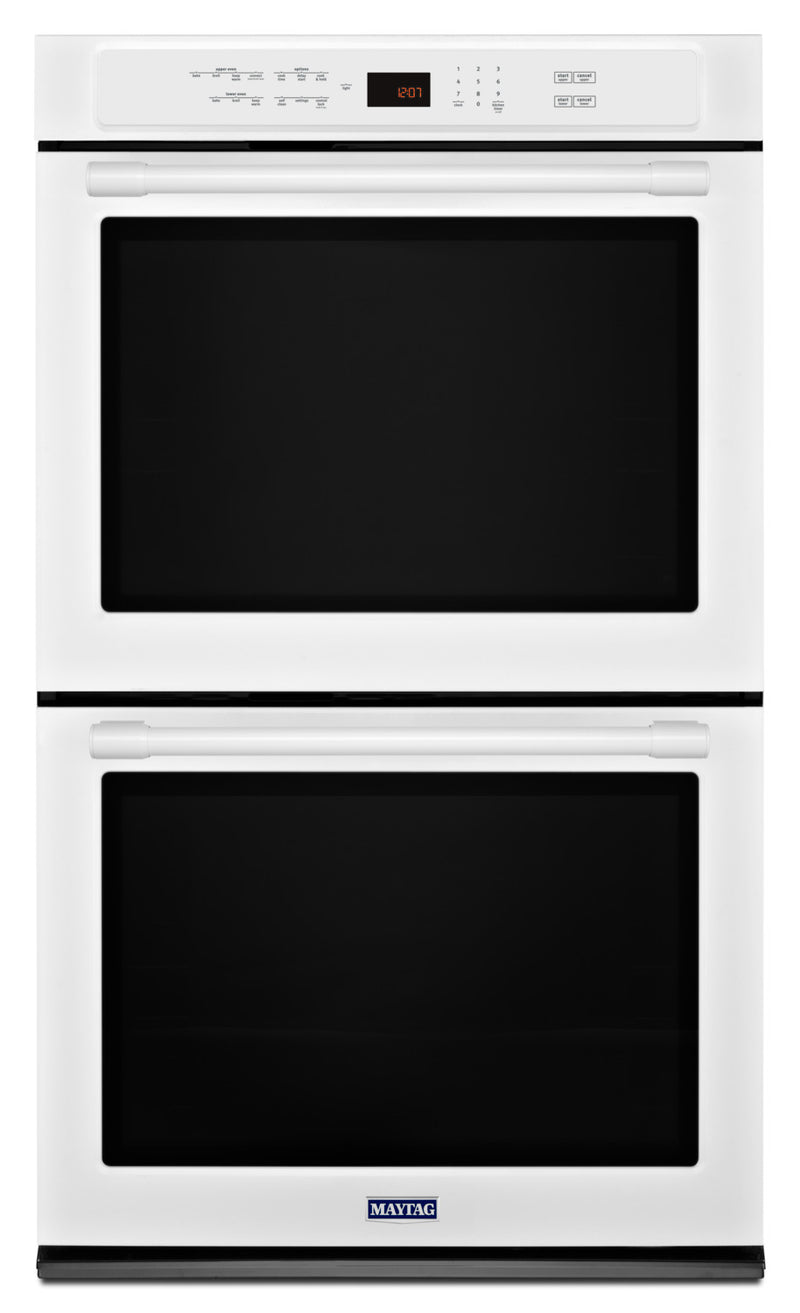 Maytag White Electric Convection Double Wall Oven (8.6 Cu. Ft.) - MEW9627FW