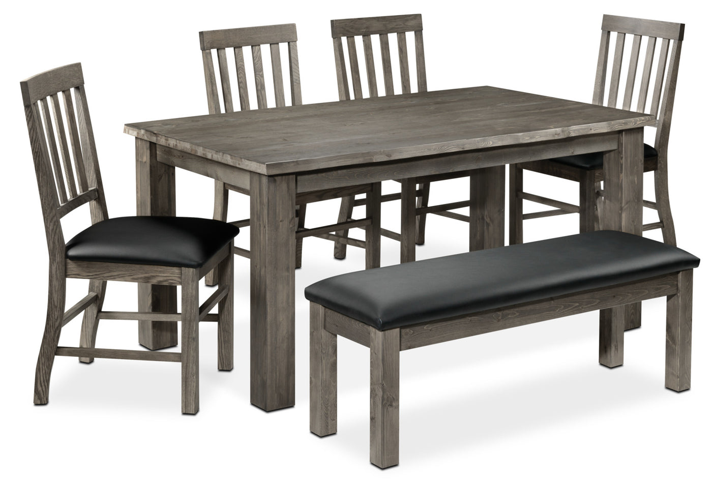 Groovy Porter 6 Piece Dining Room Set Slate And Black Dailytribune Chair Design For Home Dailytribuneorg