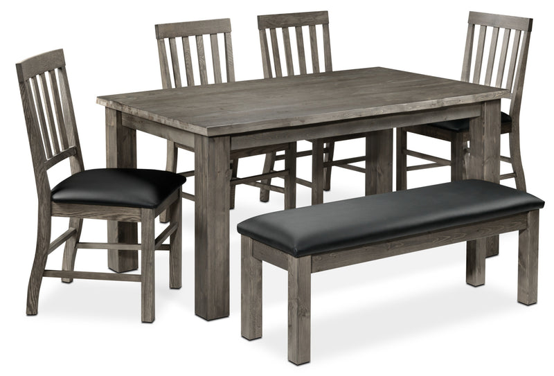 Porter 6-Piece Dining Room Set - Slate and Black