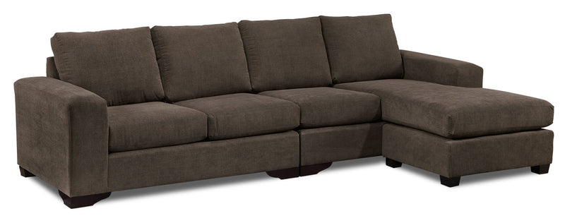 Danielle 2-Piece Sectional with Right-Facing Chaise - Java
