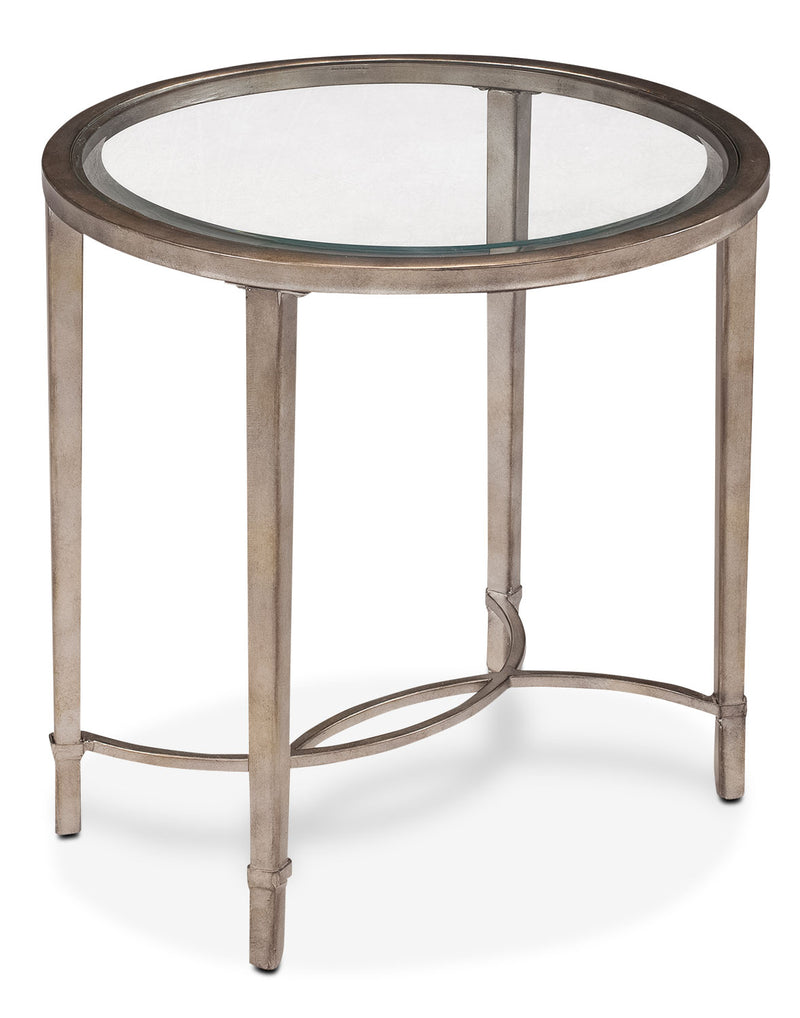 Copia End Table - Glass and Gold