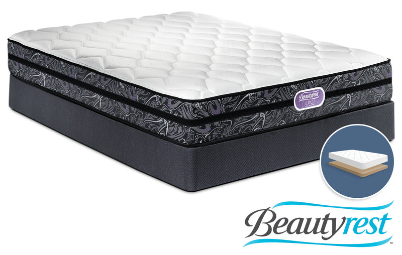 Simmons Beautyrest Ultra Haley Firm Full Mattress and Low-Profile Boxspring Set
