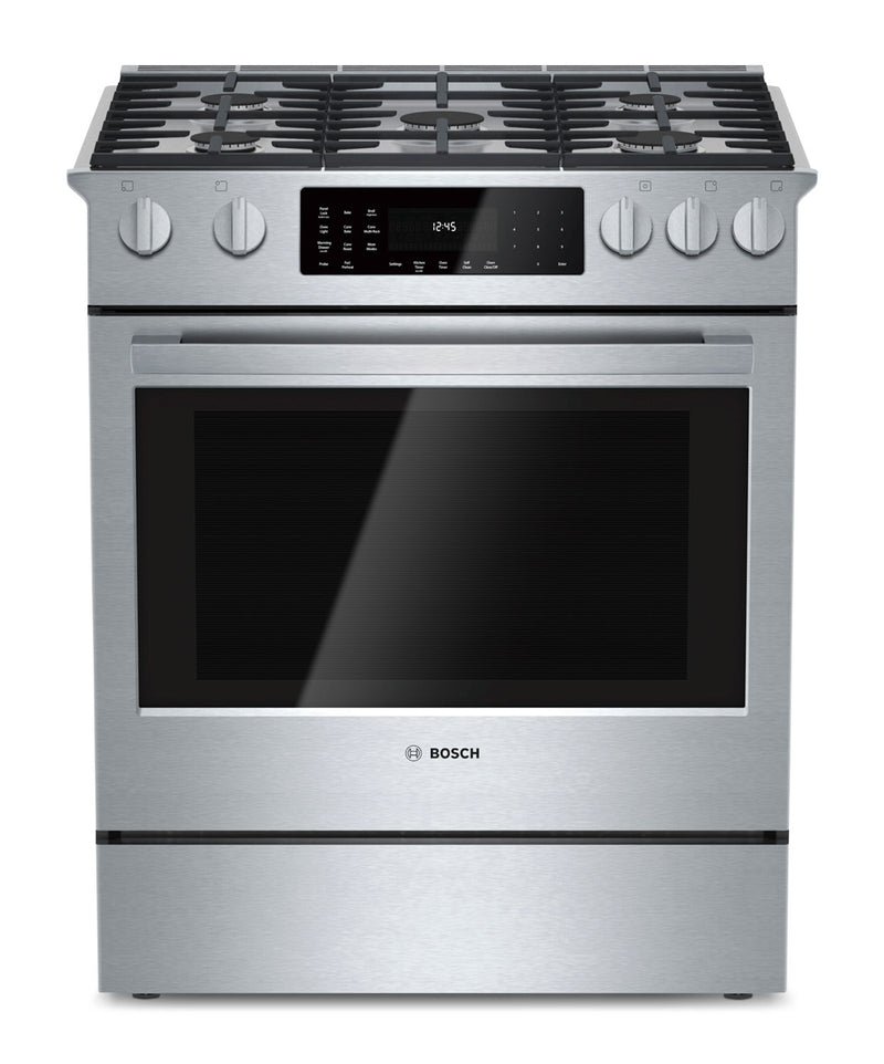 Bosch Stainless Steel Slide-In Dual-Fuel Convection Range (4.6 Cu. Ft.) - HDI8054C