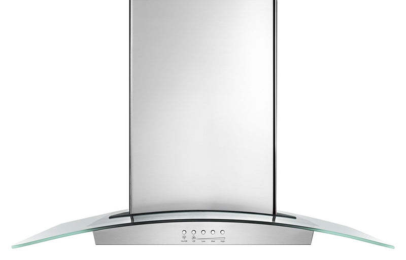 "Whirlpool Stainless Steel and Glass 36"" 400 CFM Island Range Hood - WVI75UC6DS"