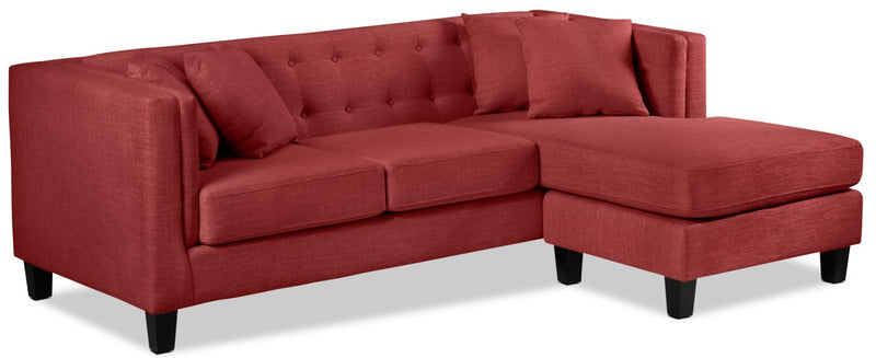 Astin Chaise Sofa - Red