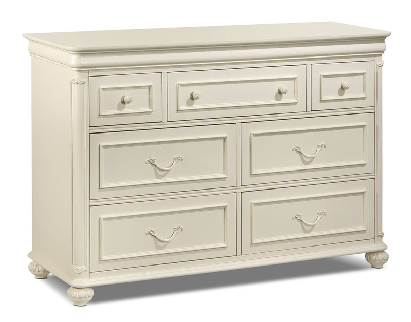 Amber Dresser - Antique White