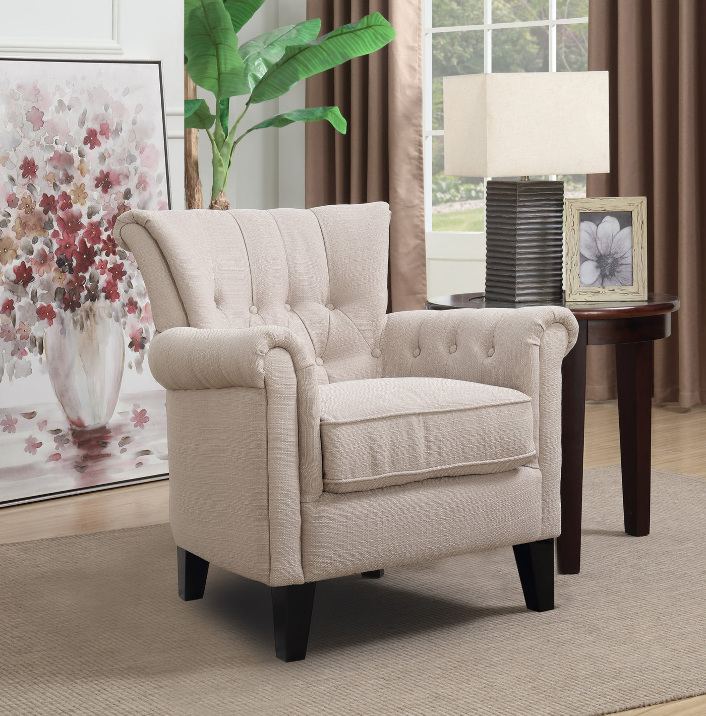 Nora Accent Chair Leons: Molly Accent Chair - Beige