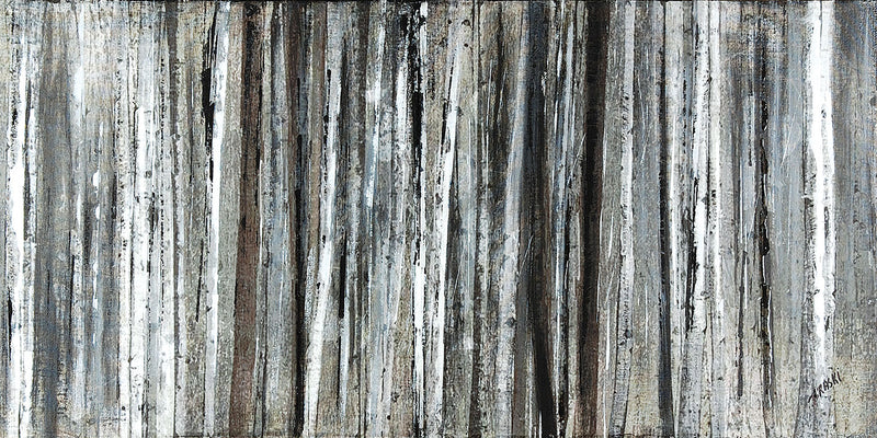 "Birch Blur Wood Canvas Print (60"" X 30"")"