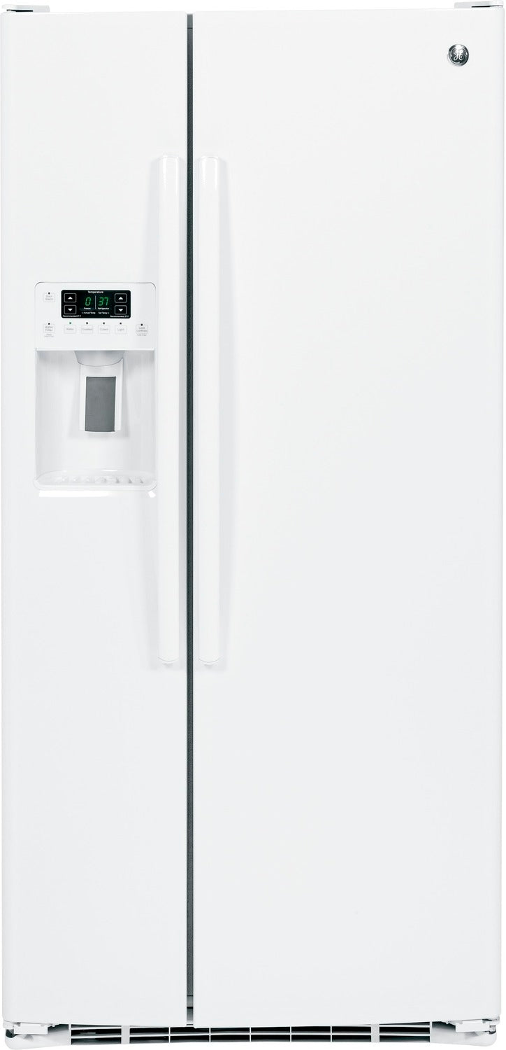 GE White Side-by-Side Refrigerator (22.5 Cu. Ft.) - GSS23HGHWW