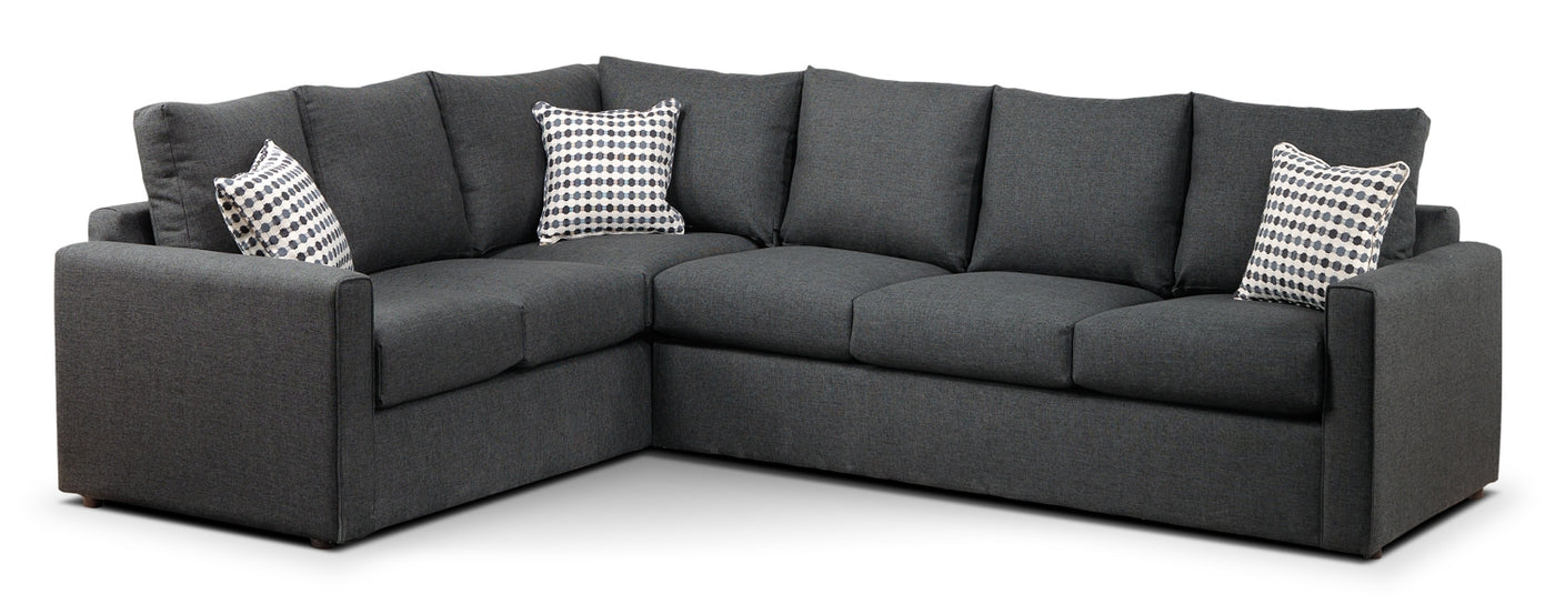Pleasing Athina 2 Piece Sectional With Right Facing Queen Sofa Bed Charcoal Download Free Architecture Designs Intelgarnamadebymaigaardcom