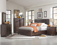 Pine Hill 6-Piece King Storage Bedroom Set - Rustic Pine