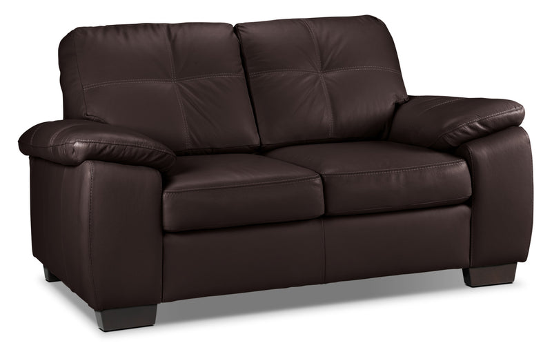 Naples Loveseat - Chocolate