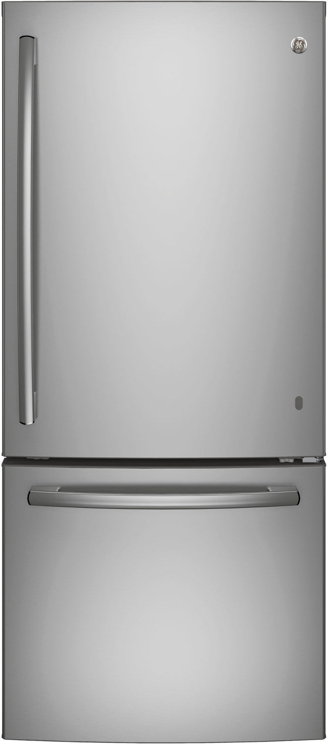 GE Stainless Steel BOTTOM-FREEZER REFRIGERATOR (20.9 CU. FT.) - GDE21DSKSS