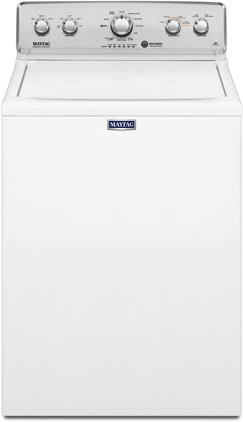 Maytag White Top-Load Washer (4.8 Cu. Ft. IEC) - MVWC565FW