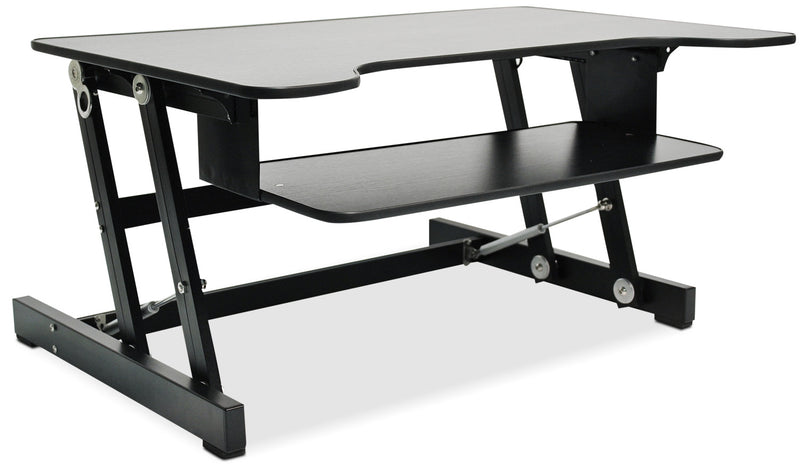 Rocelco Adjustable Desk Riser - Black