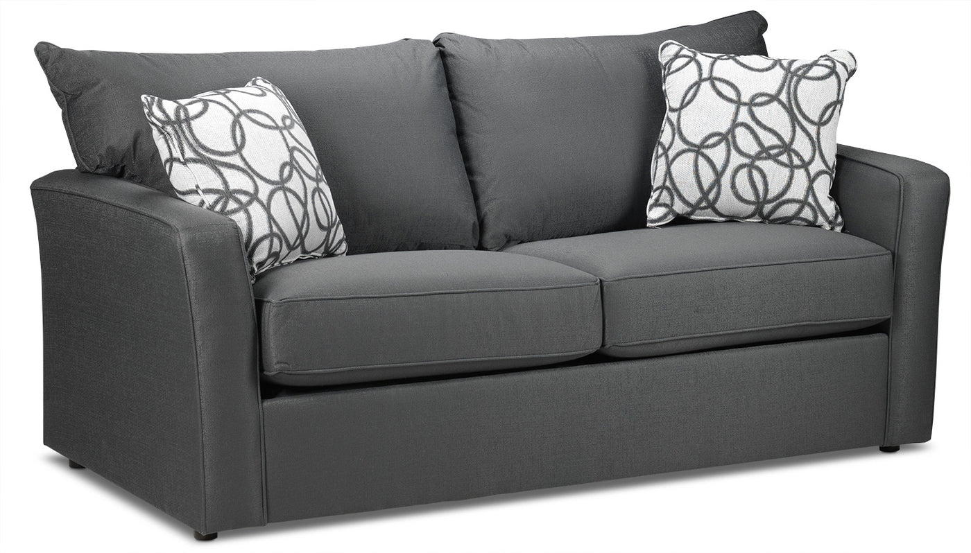 Sonah Full Innerspring Sofa Bed Grey Leons