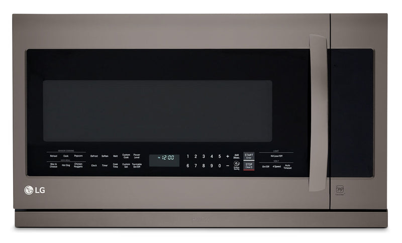 LG Appliances Black Stainless Steel Over-the-Range Microwave (2.2 Cu. Ft.) - LMV2257BD