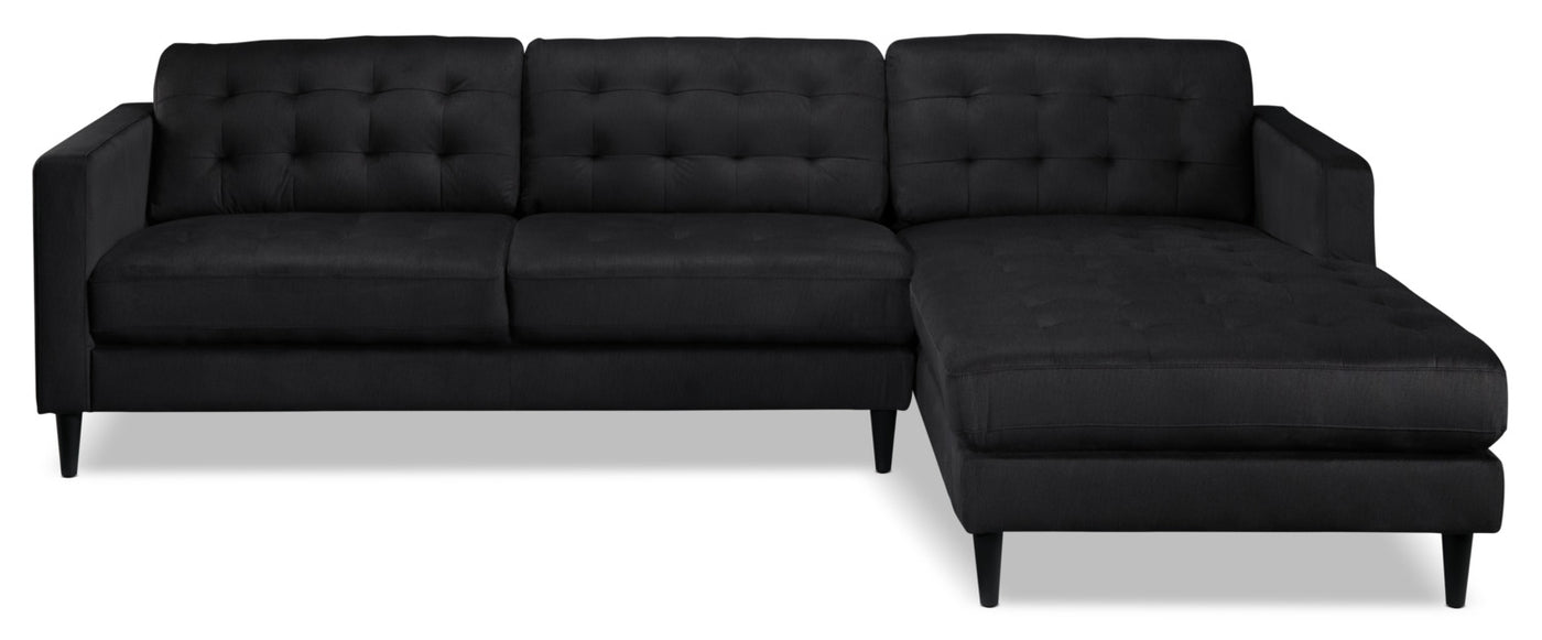 Picture of: Paragon 2 Piece Sectional With Right Facing Chaise Charcoal Leon S