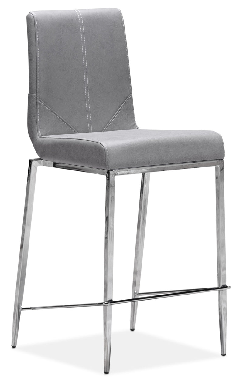 Prescott Pub-Height Stool - Grey