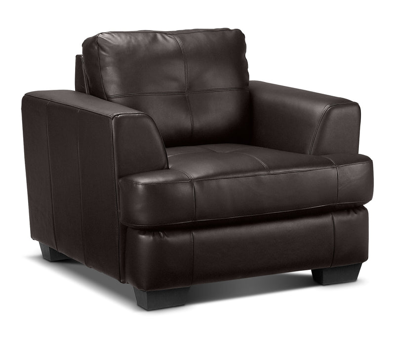 Leon S Furniture Sectional Sofas: Caitlyn Chair - Dark Chocolate