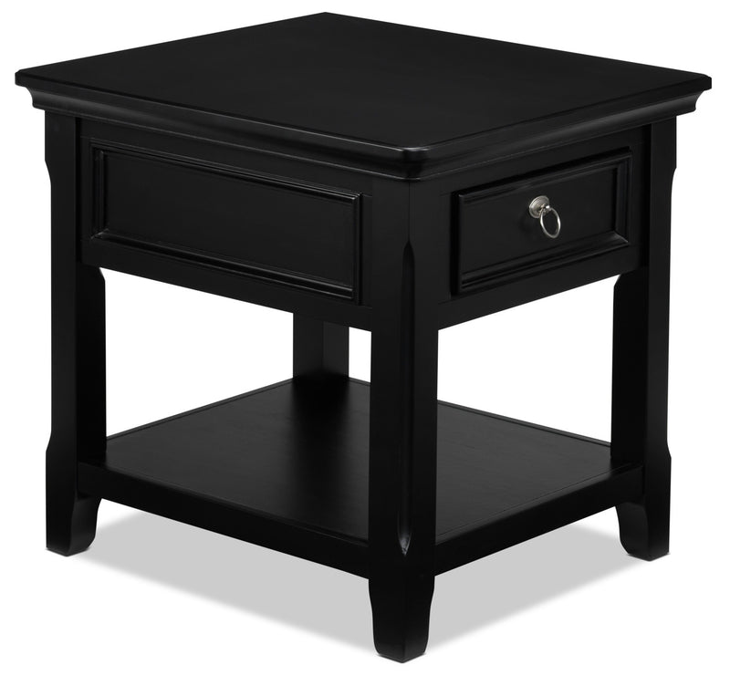 Turner End Table - Black