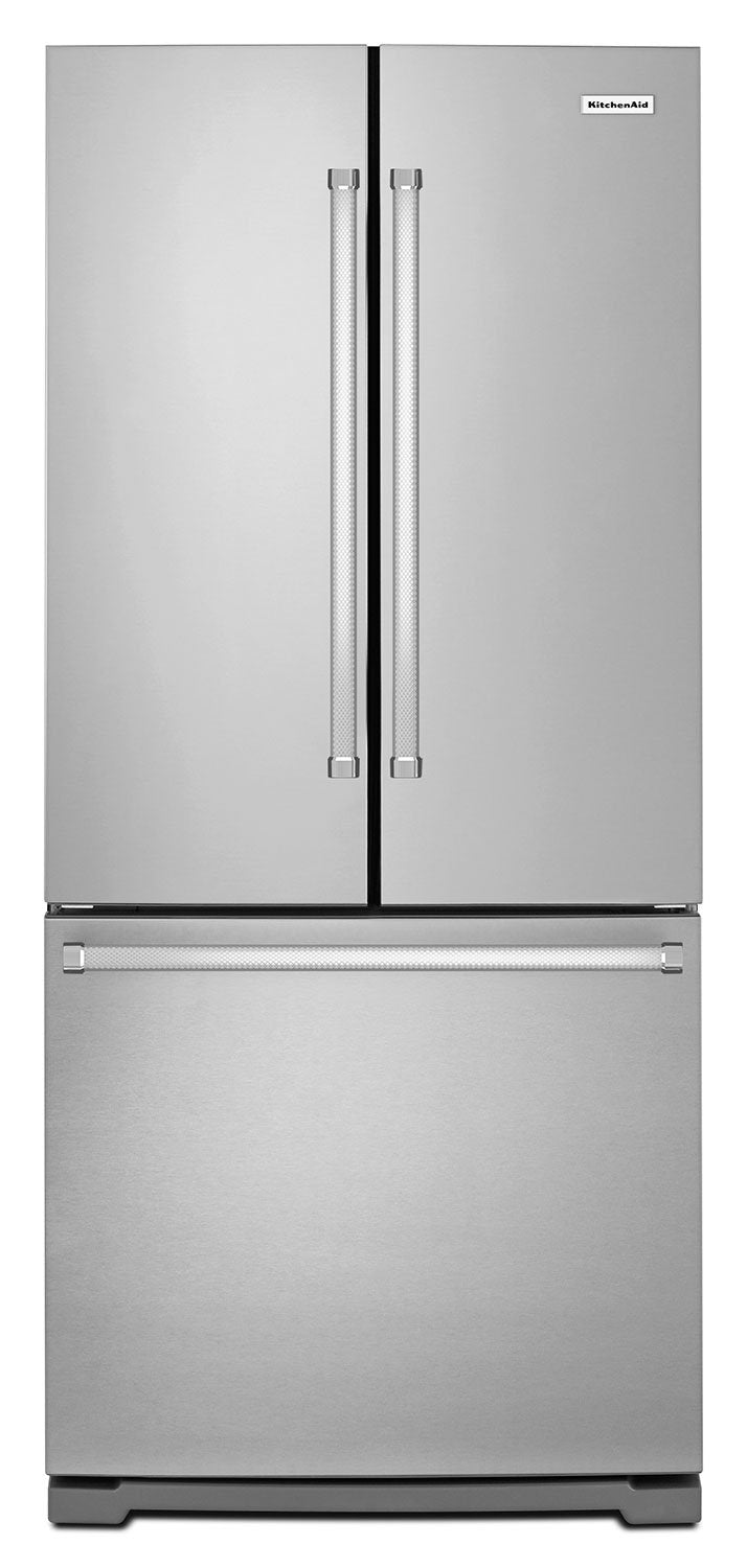 KitchenAid Stainless Steel French Door Refrigerator (20 Cu. Ft.) - KRFF300ESS
