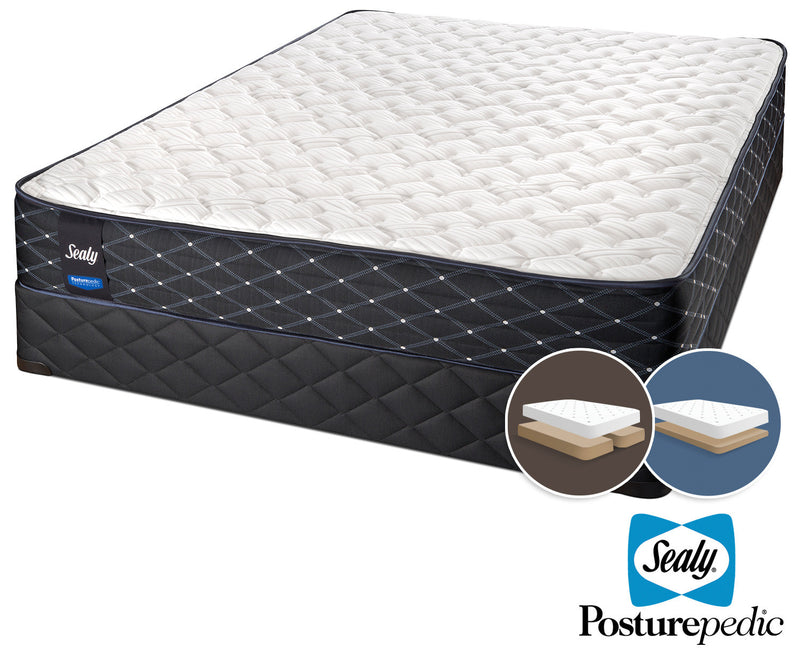 Sealy Innovate Extra Firm King Mattress and Split Low-Profile Boxspring Set