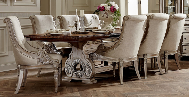 Orleans 7 Piece Dining Room Set   Antique White And Brown