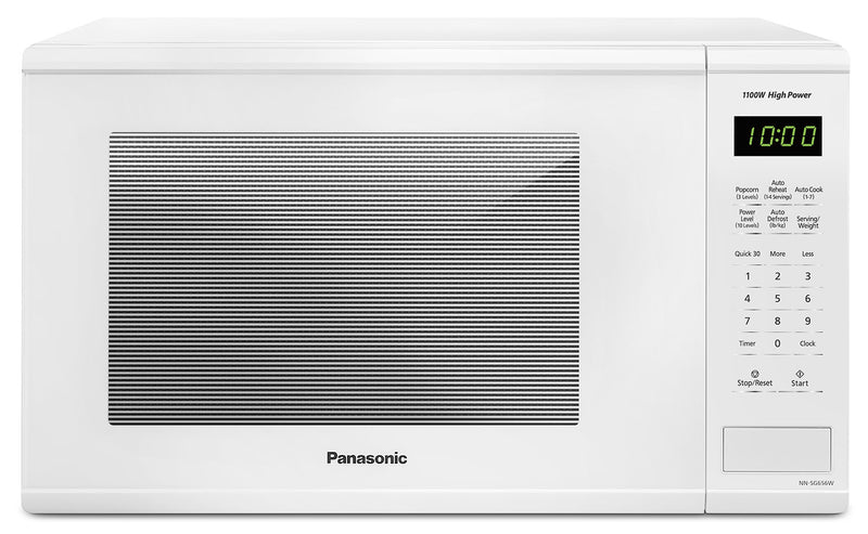 Panasonic White Countertop Microwave (1.3 Cu. Ft.) - NNSG656W