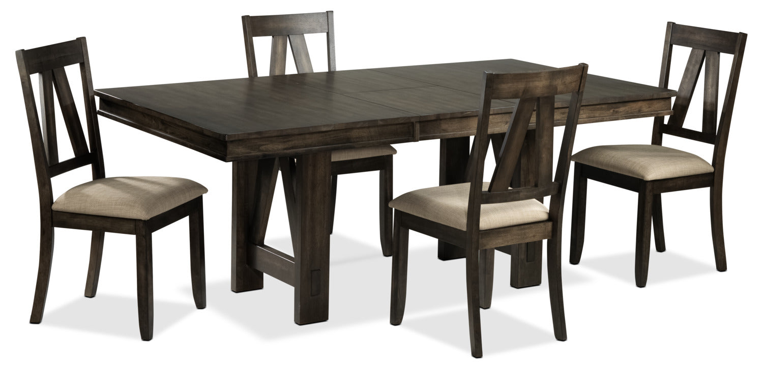 Thompson 5 Piece Dining Room Set Espresso Leon S